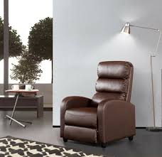 luxury leather recliner chair armchair brown