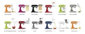 kitchenaid mixer color chart. stand-mixer-attachments kitchenaid mixer color chart
