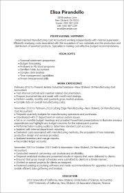 Manufacturing Resume Templates Custom Professional Manufacturing Cost Accountant Templates To Showcase