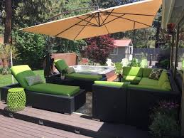 image black wicker outdoor furniture. Great Ohana Outdoor Furniture Insider Sunbrella Macaw With Black Wicker Image