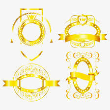 gold ribbon border creative golden ribbon border gold frame ribbon png and vector