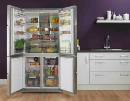 Kitchen Refrigerator Shining Home Design In The American Style Fridge  Freezer Door Open Roomset