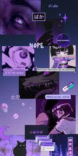 Dark purple wallpaper, Purple anime ...