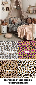 leopard print baby bedding by woolf