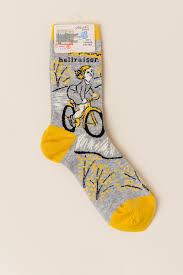 Blue Q Hellraiser Crew Socks- beige-cl