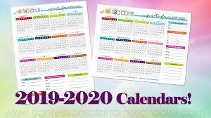 Year At A Glance Calendars 2019 2020 Year At A Glance Calendars Confessions Of A