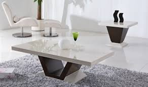 modern coffee table furniture in blackwhite  features