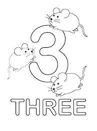 Small Picture Number 3 coloring pages