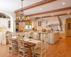 Large Traditional Eat In Kitchen Remodeling   Large Elegant U Shaped Medium  Tone Wood