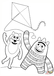 Small Picture Kites Coloring Pages Best Kite Coloring Pages Preschool Coloring