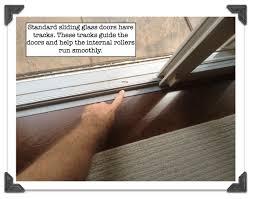 standard sliding glass doors have tracks