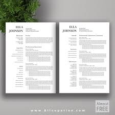 Allcupation Free Or Almost Free Professional Resume Template Cv