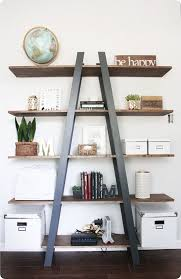 here is our last diy for our master bedroom it is my favorite because my husband built it we had this empty wall in our office nook that i knew i wanted avenue greene grey ladder storage office wall