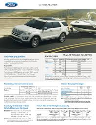 Ford Explorer Towing Capacity Chart 2016 Ford Explorer Trailer Towing Selector