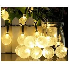 Solar Powered Globe Lights Us 9 06 31 Off Solar Outdoor String Lights 20ft 30 Led Warm White Crystal Ball Solar Powered Globe Fairy Lights For Garden Fence Path Wedding In