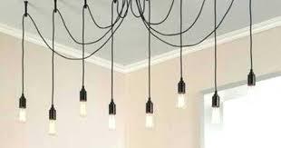 bulb bronze swag chandelier lighting simple 8 light edison black multi pendant full size