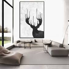 incredible designing extra large wall art canvas silhouette deers inspiration black and white framed decoration on transitional framed wall art with wall art designs extra large wall art canvas great interior