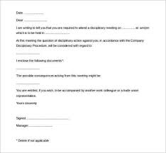 Hr Warning Letter Blank Hr Warning Letter Template