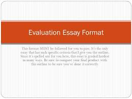 evaluation essay ppt  evaluation essay format