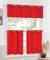 Kitchen Curtains Red