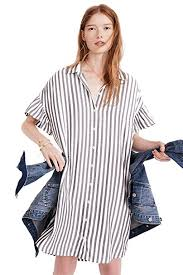madewell men s size chart madewell womens striped courier ruffle sleeve shirtdress at