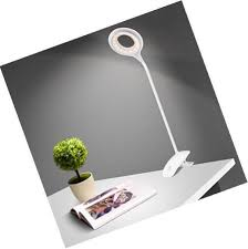 clamp desk light dimmable clip bedside lamps 3 levels brightness flexible neck