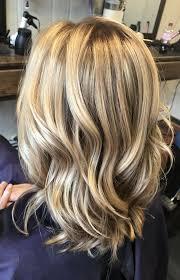 Bright Blonde Highlights On Dark Blonde