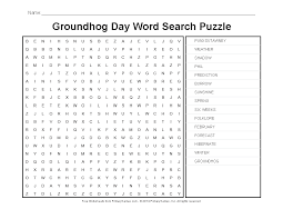 Groundhog Day Worksheets: Groundhog Day Word Search Puzzle ...