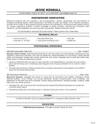 Entry Level Mechanical Engineering Resume Free Engineer Sumary