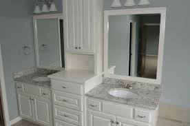white ice granite bathroom vanity