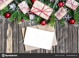 Blank Boxes To Decorate blank christmas greeting card and envelope with fir tree branches 46