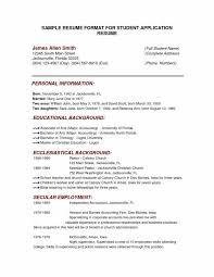 Sample College Application Resume Ivy League Inspirational Sample