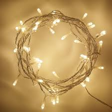 40 Indoor Fairy Lights for Bedroom Living Room with Warm White LED & Clear  Cable