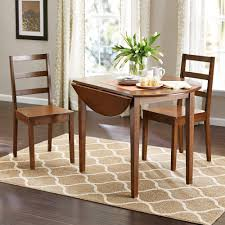 Kitchen : Adorable Round Wood Dining Table Breakfast Set Small Kitchen Drop  Leaf And Chairs Large Size Of Narrow Counter Height Farmhouse Modern Tables  ...