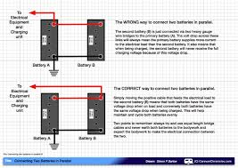 how to connect two batteries in parallel caravan chronicles connecting two batteries in parallel