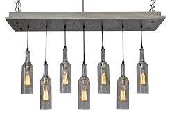 7 wine bottle chandelier