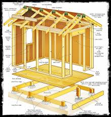 Small Picture Shed Plans 8 X 8 Wooden Project Tools Handy Man Pinterest