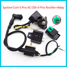 popular ac regulator bike buy cheap ac regulator bike lots from Auto Start Relay Coil Wiring 5 pins ac cdi ignition coil 12v start relay 4 pin voltage regulator rectifier for 50cc Auto Relay with Diode Wiring