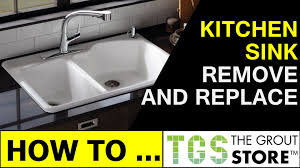 How To Remove Kitchen Tiles How To Remove And Replace A Kitchen Sink Youtube