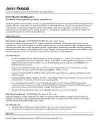 Sample Resume Marketing Marketing Manager Resume Templates Marketing