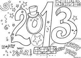Small Picture New Year 2013 Printable coloring Pages Printable Coloring Pages