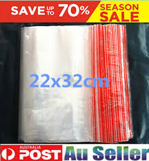 100 <b>22X32CM</b> Resealable <b>Plastic</b> Bags <b>Zip Lock</b> Reseal <b>Ziplock</b> ...