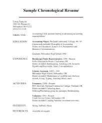 Professional Chronological Resume Template Chronological Resume ...