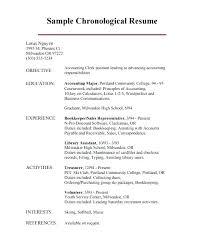 Professional Chronological Resume Template Chronological Resume ...