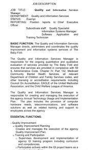 Solved: Job Description Job Title Manager Department: Qual ...