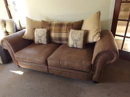 downton rodeo 3 seater split sofa only 5 months old with fabric guard