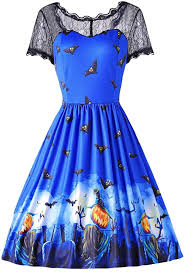 Amazon Com Dresslily Women Short Sleeve Lace Spliced Print