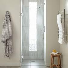 30 farland frameless shower door chrome