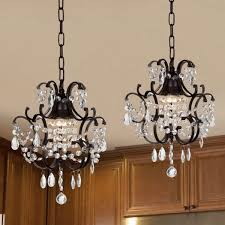 wrought iron chandeliers with crystal accents