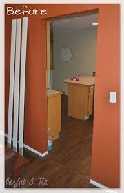 Burlap & Tin: New Doorways Say HELLO! How to frame in an interior doorway